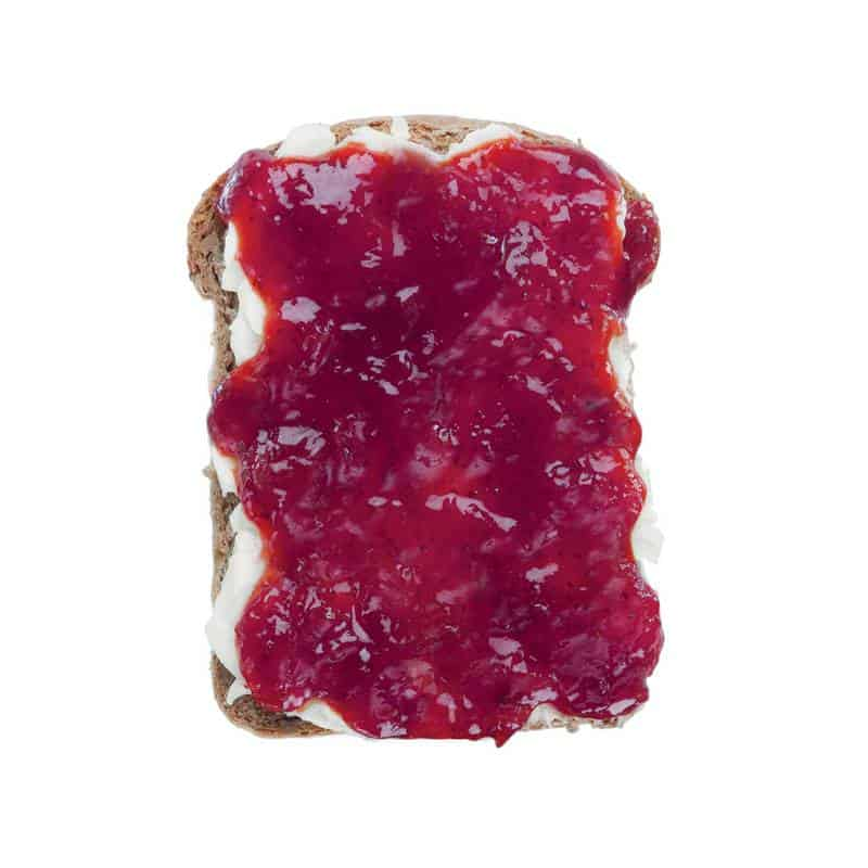 jam and butter toast