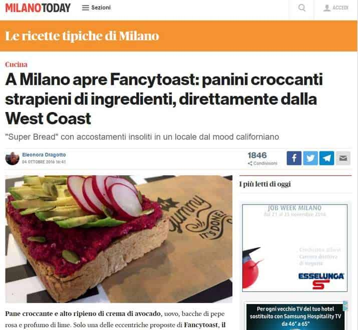 fancytoast su Milano Today