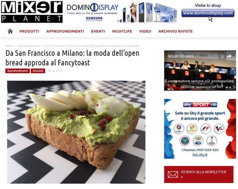 fancytoast su Mixerplanet