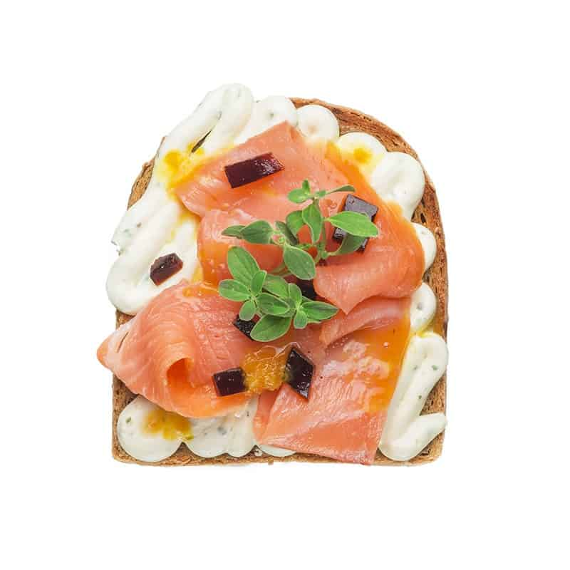 Salmon West toast