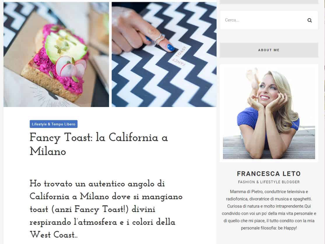 fancytoast sul blog di francesca leto