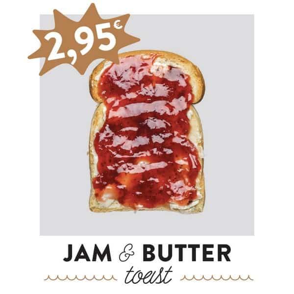 fancytoast jam & salty butter toast