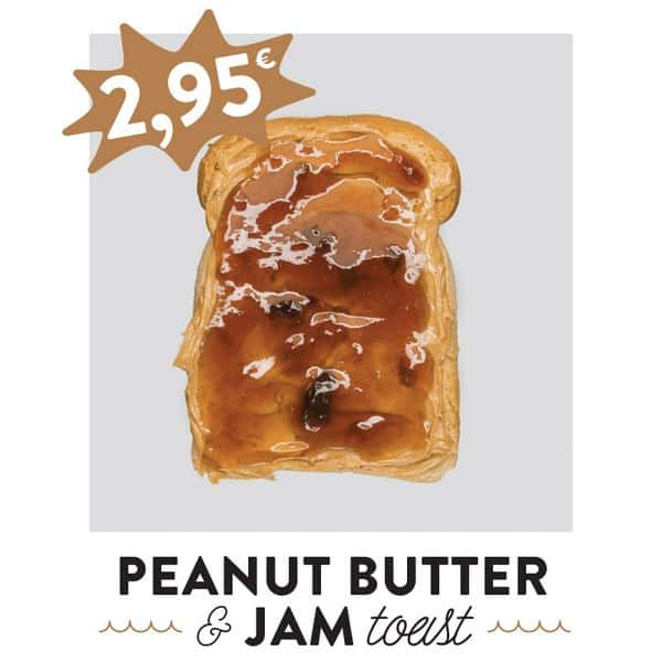 fancytoast peanut butter jam toast