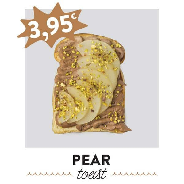 fancytoast pear toast